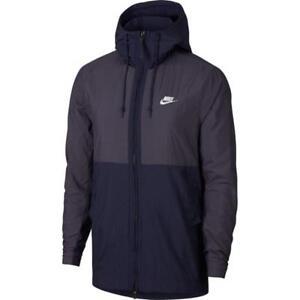 Nike veste nsw hd woven bleu marine/rouge/blanc