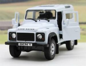 PERSONALISED PLATES White Land Rover Defender Boys Toy Model Car Stocking Filler