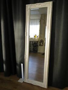 TALL DRESSING ROOM FULL LENGTH FLOOR MIRROR - SILVER BLACK CREAM ...