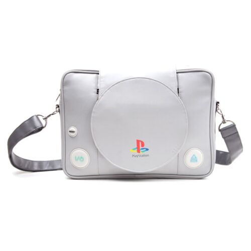 Playstation 1 Shaped Shoulder Messenger Console Sony School Official Game Bag 6SFgS