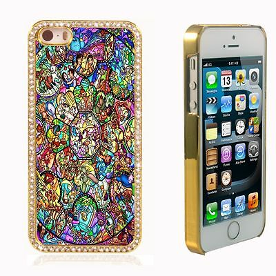 Disney All Characters Bling Diamond Crystal Case Cover For iPhone 5S 5C 6