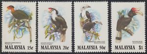 107-MALAYSIA-1983-HORNBILLS-SET-4V-FRESH-MNH-CAT-RM-35