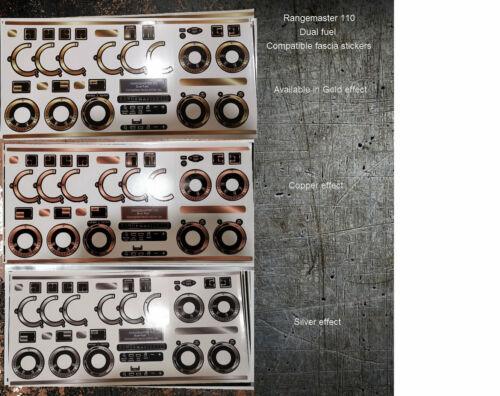 Rangemaster 110 Thermique Double fascia panel compatible autocollant ensemble.