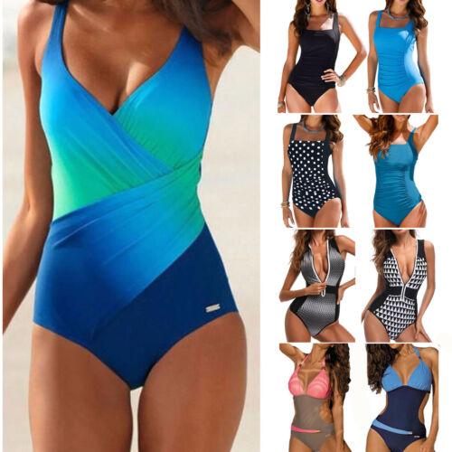 Damen Bikini Monokini Push-up Badeanzug Einteiler Bade Body Strand Schwimmanzug