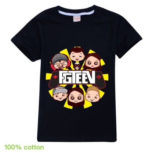 UK Boys Girls GURKEY FUNnel Vision FGTeeV Tops Casual Tee Shirt T-shirt