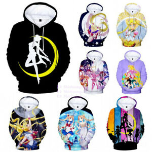 Unisex-Anime-Sailor-Moon-3D-Print-Hoodies-Women-Casual-Pullover-Coat-Sweatshirt