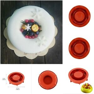 Pastry Tools Round Ring Shaped Silicone Cakes Mold Mousse Bread Baking Cake USA