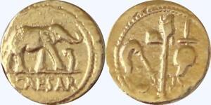 28-g Julius Caesar Roman Coin Roman Empire Denarius, Republic To Empire