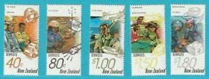 La Nouvelle-zélande De 1996 ** Cachet Minr. 1497-1501 Sauvetage Hélicoptère-afficher Le Titre D'origine