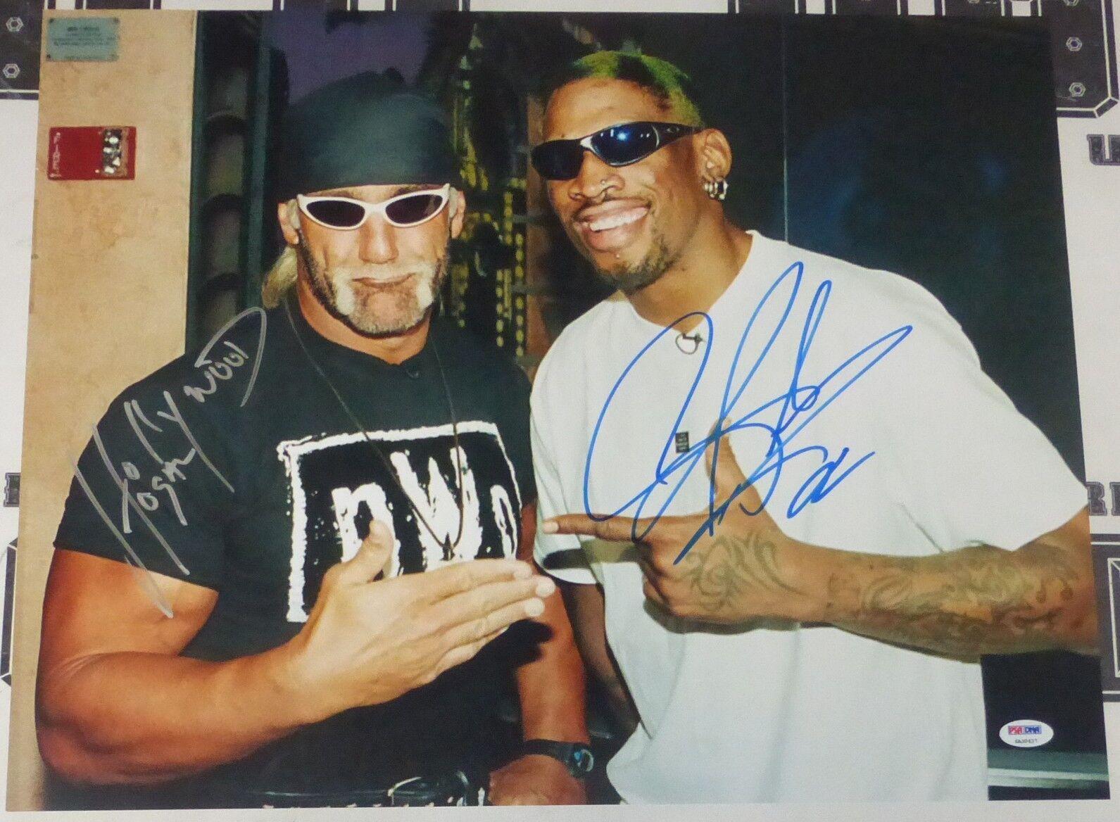 Dennis Rodhomme Hulk Hogan Signé Wwe 16x20 Photo PSA   DNA COA Image Auto Wcw Nwo