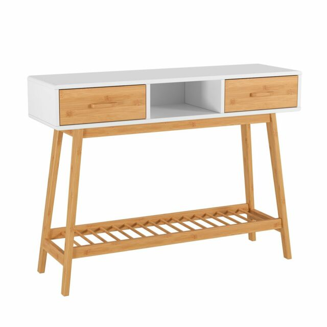 Sofa Table With Storage Drawers Console