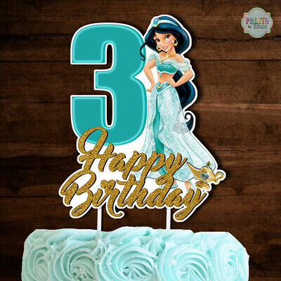 Princess Jasmine Cake Topper Cutout Cake Decoration Centerpiece