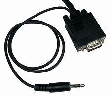1m Vga Monitor to TV Screen Cable built in 3.5mm Stereo Audio aux Speaker Jack
