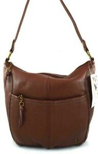 The Sak Leather Iris Large Hobo Shoulder Bag - Teak Brown- New With Tags