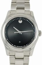 Movado Women's 0606482 Sportivo Stainless-Steel Black Museum Dial Watch