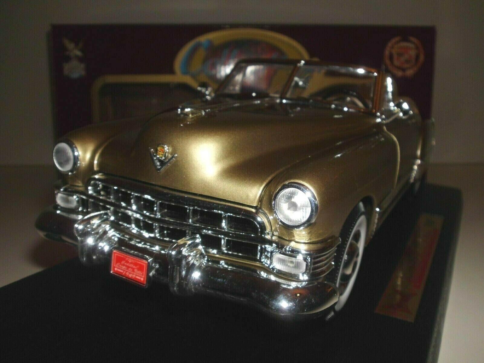 1 18 Cadillac Coupe de Ville cabrio 1949 Road Legends modelo oro DIECAST us Car