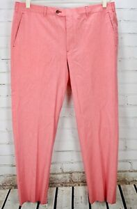fashion new cheap high fashion Details about BROOKS BROTHERS 346 Fitzgerald Pink/Red Dress Pants Mens  40/32 Straight Leg