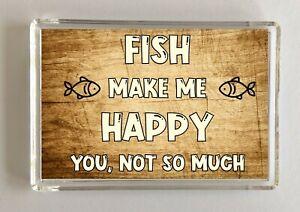 Fish-Gift-Novelty-Fridge-Magnet-Makes-Me-Happy-Ideal-Present-Birthday-Xmas
