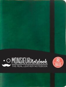 Ruled-PKT-Green-Leather-Bound-Monsieur-9781781431443