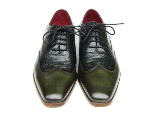 Leather Floater Paul 023 Green green Parkman Men's id Wingtip Oxford BXRIq