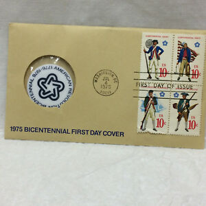 First-Day-Issue-1975-Bicentennial-First-Day-Cover-Paul-Revere-Medal