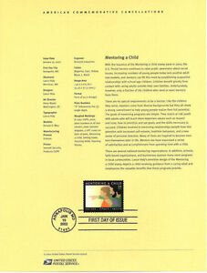 #0202 34c Mentoring a Child Stamp #3556 Souvenir Page