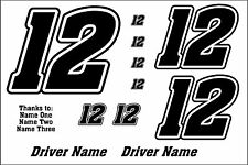 Custom Race Car Numbers IMCA Modified Street Stock Late Model Sprint Legends