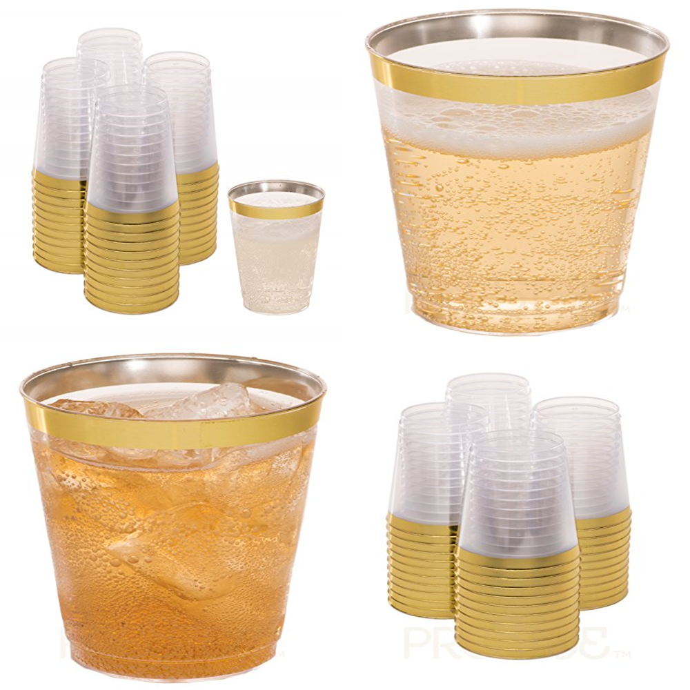 Juice Wine Whisky 60 x 9oz 270ml Clear Strong Plastic Tumblers Cups Disposable