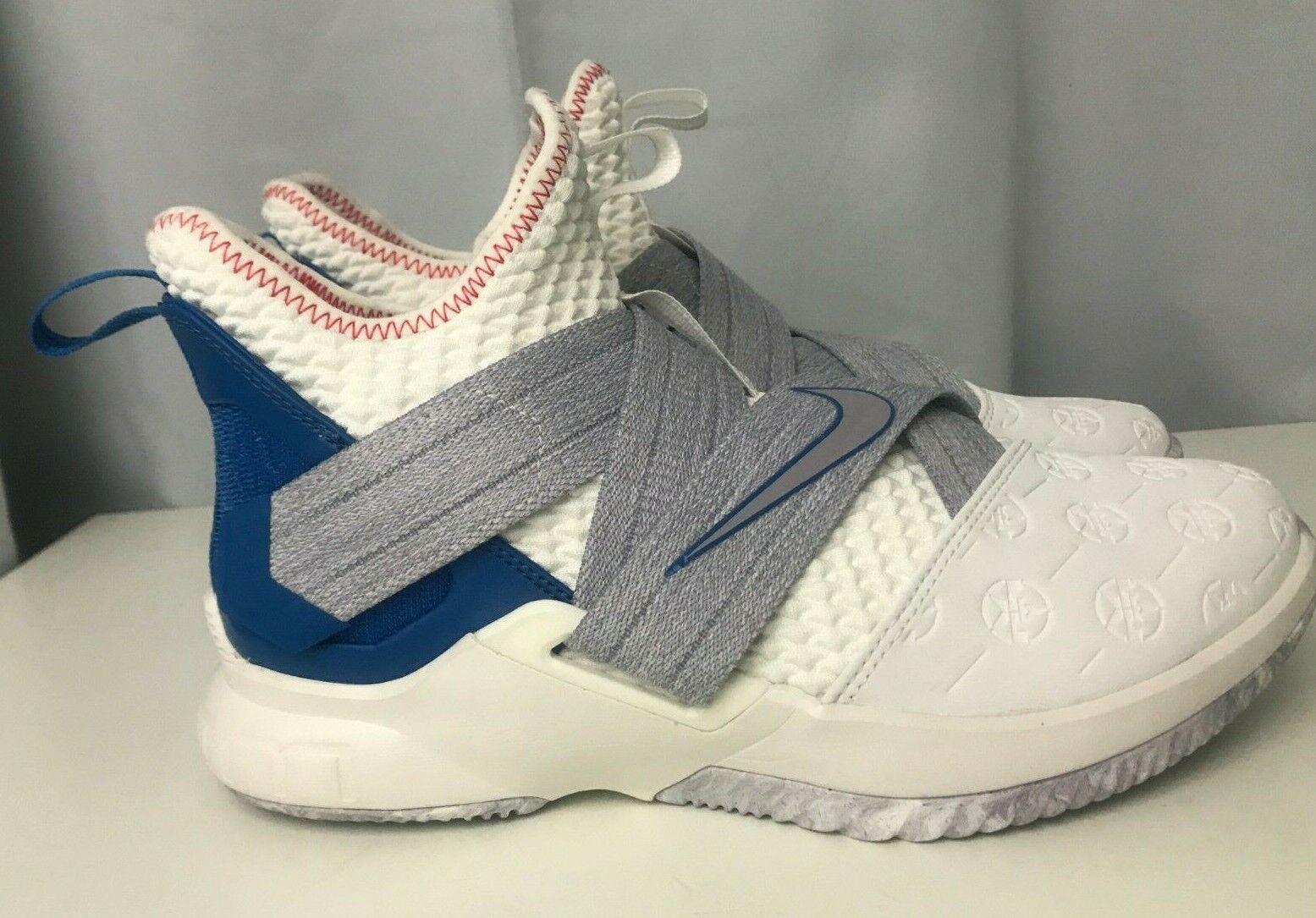 Nike LeBron Soldier 12 XII Basketball shoes Men's Sz 7 White (AO2609-101)