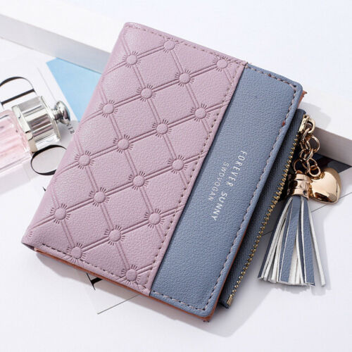 Women/'s Leather Buckle Zipper Large Capacity Wallet Coin ID Credit Card Holder