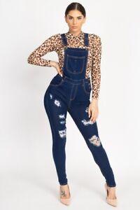 Deleozaz Overol Flaco De Mezclilla Para Mujer Monos Pantalones Overoles Jeans Ebay