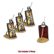 First Legion: ROM170c Roman Shields w/Pilum & Helmet, 3 Pcs, Legio II Augusta