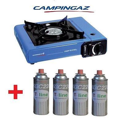 Consegna Veloce Fornello Portatile A Gas Da Tavolo Camp Bistro Campingaz + 4 Cartucce A Gas