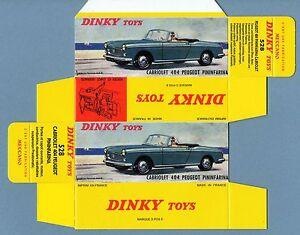 Details about Dinky Toys 528: Peugeot 404 Cabriolet Repro Box Reprobox  Rebuild Copy