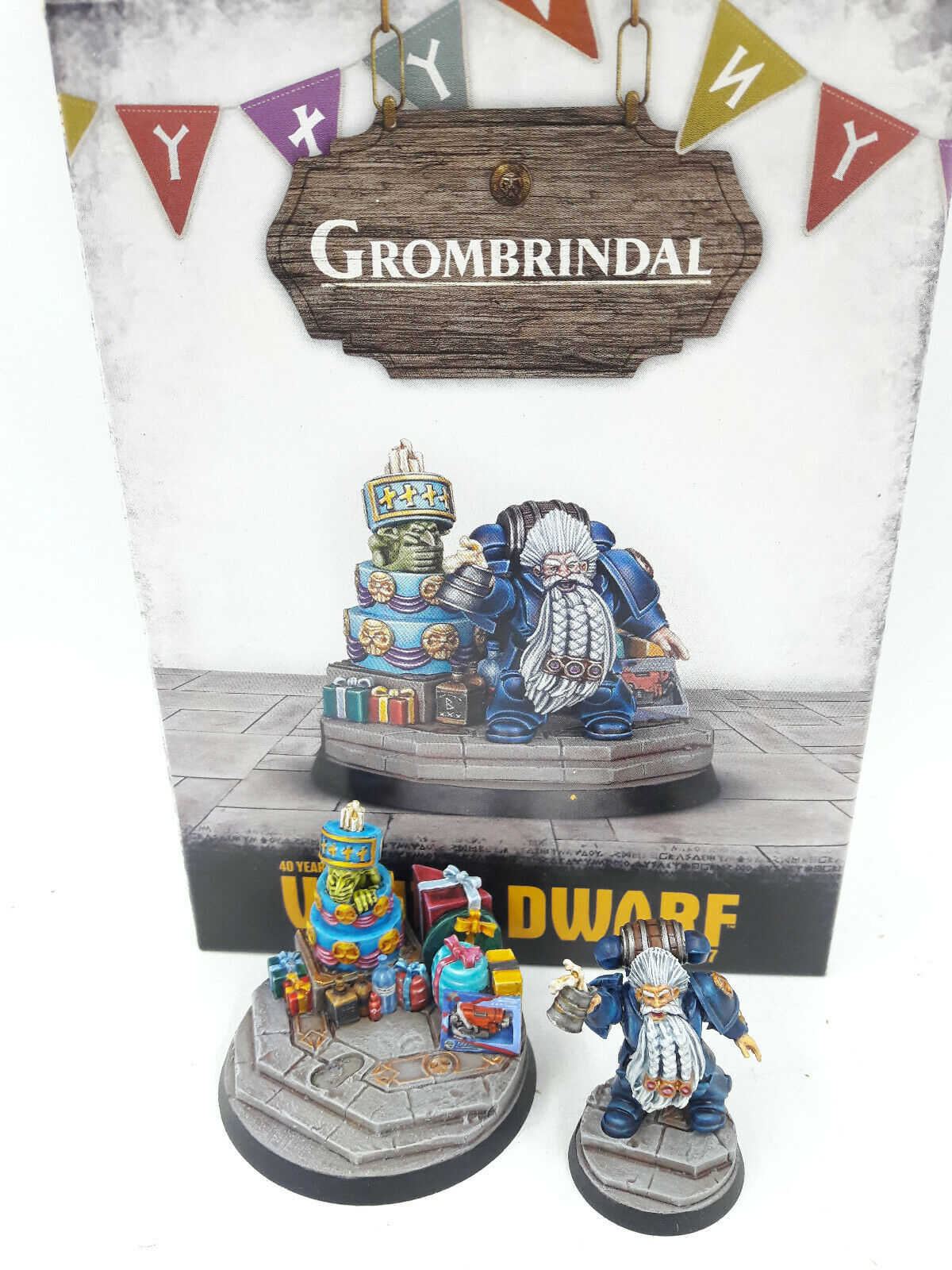 GAMES WORKSHOP WARHAMMER GROMBRINDAL GROMBRINDAL 40TH ANNIVERSARY EXCLUSIVE GREAT PAINTING