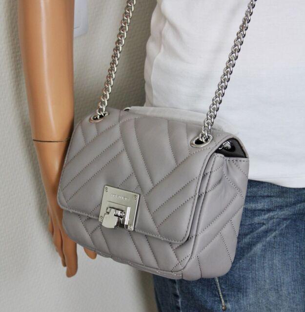 michael kors tasche bag vivianne sm shoulder flap ash grey. Black Bedroom Furniture Sets. Home Design Ideas