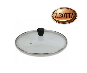 Coperchio-in-Vetro-Pomolo-Soft-Touch-Nero-PENTOLPRESS-24-cm-Glass-Black-Lid