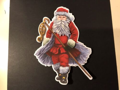 3 Tattered Lace Santa Setting Off Die Cuts With Mat Layer
