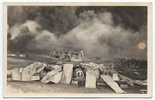 1926 RPPC Postcard of Union Oil Company Fire at San Luis Obispo CA