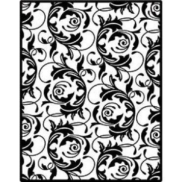 Spellbinders Impressabilities FLOURISH Emboss Deboss Stencil 12-1009