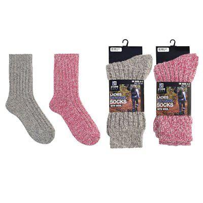 Womens Thick Wool Socks Ladies Hiking Walking Camping Warm Festival Boot Sock