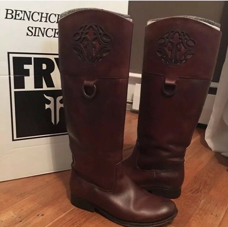 Man's/Woman's Frye Melissa Logo Congnac Boots 6.5 Good design Highly praised and appreciated by the consumer audience Different goods