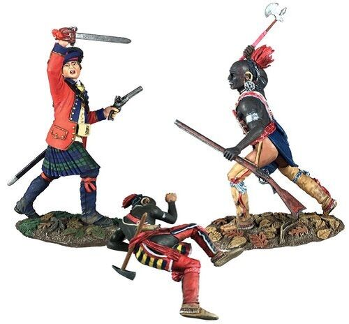 W Britain 16040 Art of War, Battle of Bushy Run No.2 - 3 Pc Set Limited Edition