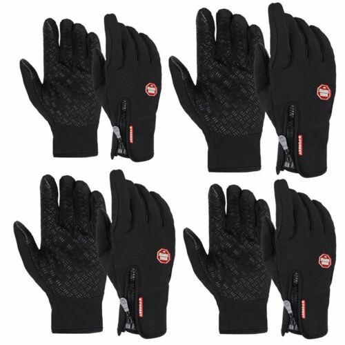 Windproof Feel Screen Waterproof Warm Gloves Womens Mens Winter Sport Mittens aa