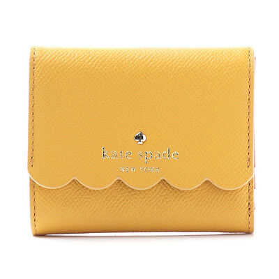 Kate Spade New York Morris Lane Jada Leather Trifold Wallet (Saffron) NWT