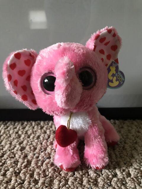 Ty Beanie Boos Tender Elephant 6 Plush Pink EC - 36072 for sale ... 0953d96b99f6