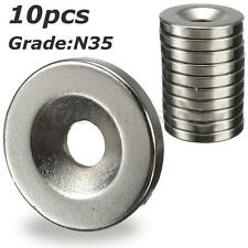 10Pzs Imanes De Neodimio Magnético Disco Magnet Imán Fuerza N35 20x3mm Hole 5mm