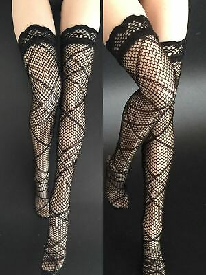 """1//6 Scale Female Black Stockings Pantyhose Fit 12/"""" Action Figure Body Gifts Toy"""