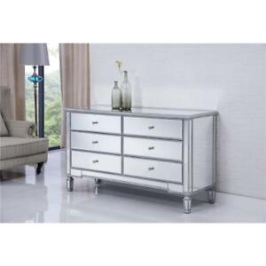 Details about MIRRORED DRESSER CABINET CHEST FOR LIVING DINING ROOM BEDROOM  FOYER 6 DRAWERS