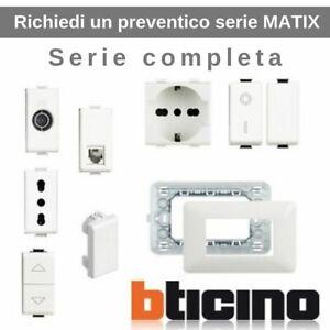 Bticino-serie-matix-placche-interruttori-prese-deviatori-invertitori-pulsante-tv